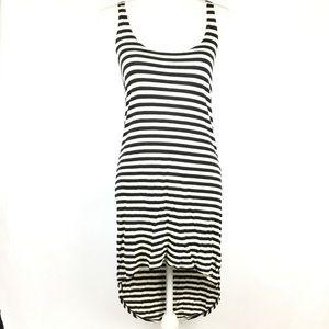 Volcom Dress XS High Low Tank Stripes Beach Summer